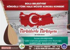 TÜRKÜLERLE TÜRKİYE'M Temalı Türk Halk Müziği Konseri