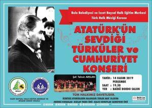 ATATÜRK'ÜN SEVDİĞİ TÜRKÜLER VE CUMHURİYET KONSERİ